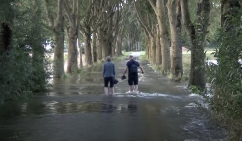 Hoogwater bij Megen