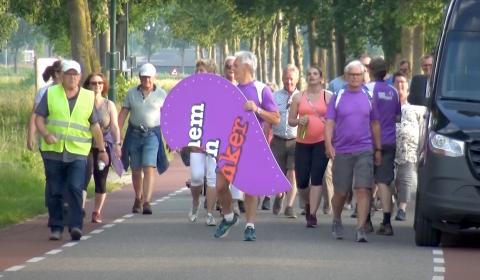 Stichting Berghem tegen kanker organiseert sponsor estafetteloop